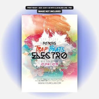 Elektro-party-flyer