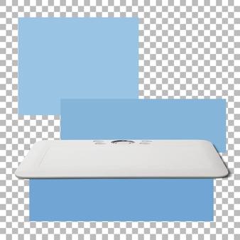 Elektronisches zeichenstift-tablet auf transparentem hintergrund isoliert