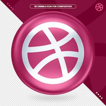 Ellipse 3d color dribbble logo