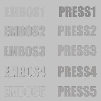Embos und druckebenenstil für photoshop-texteffekt