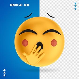 Emoji 3d rendering isoliert