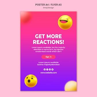 Emoji design poster vorlage