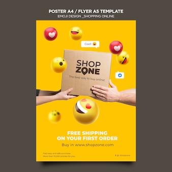 Emoji poster vorlage