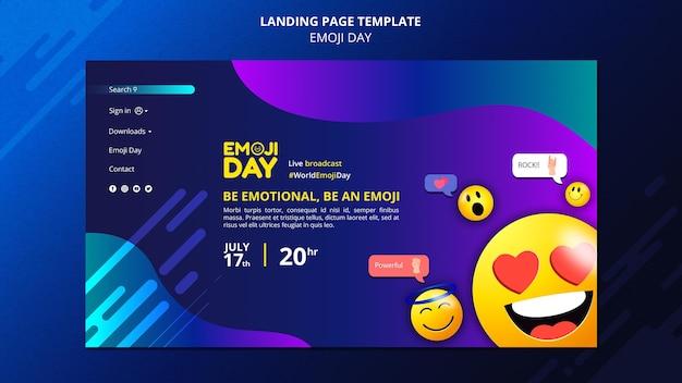 Emoji-tag-zielseitenvorlage