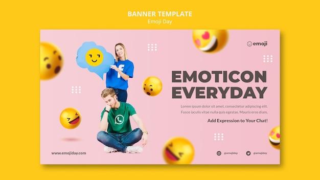 Emoji-tagesbanner-vorlage
