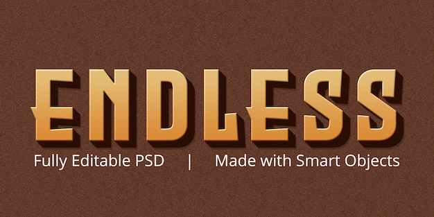Endless editable text style effect mockup