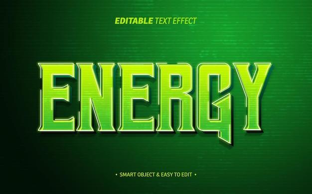 Energietexteffekt