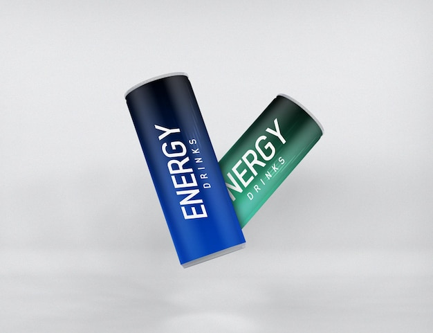 Energy drink can mockup isoliert