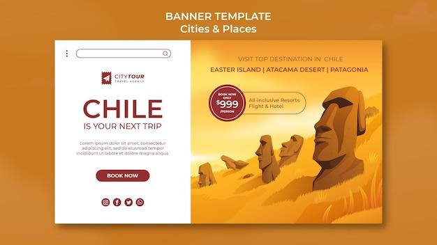 Entdecken sie das horizontale banner von chile
