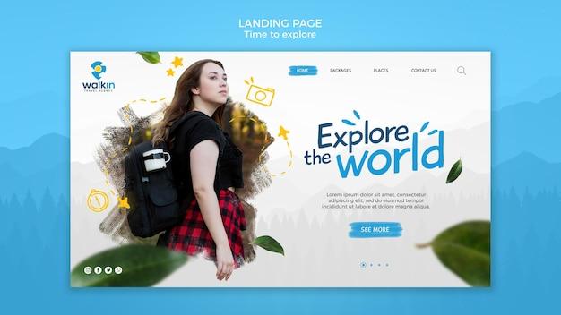 Entdecken sie die konzept-landingpage-vorlage