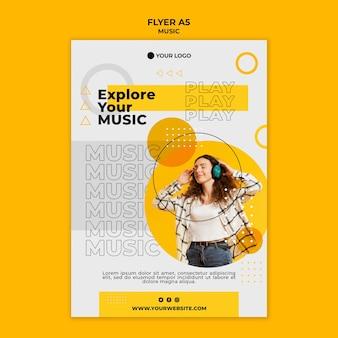 Entdecken sie ihre musik-flyer-vorlage