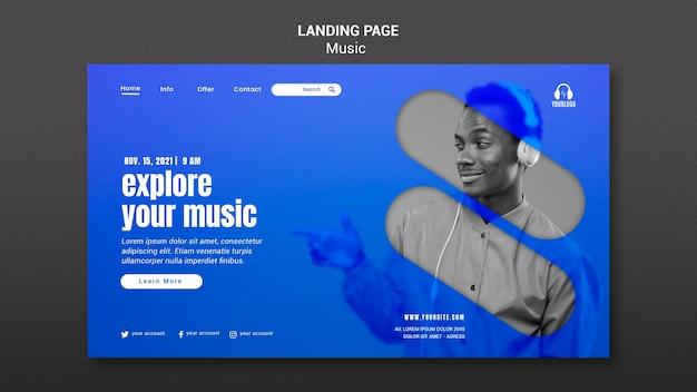Entdecken sie ihre musik-landingpage