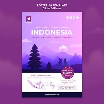 Entdecken sie indonesien poster vorlage