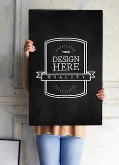 Entwurfsraum auf schwarzem brett