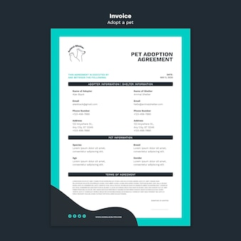 Entwurfsvorlage für adoptionsvereinbarung