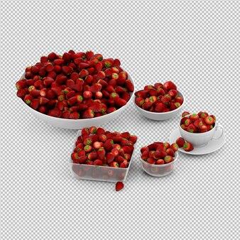 Erdbeere 3d übertragen