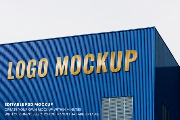Erstellen eines logo-mockups, modernes corporate-psd-design