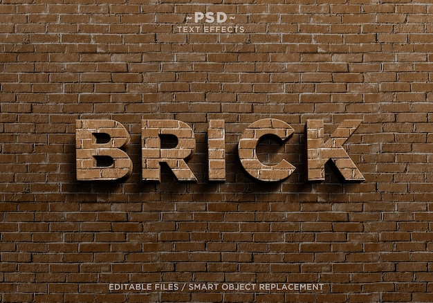 Erstellen sie eine brick effects-textvorlage