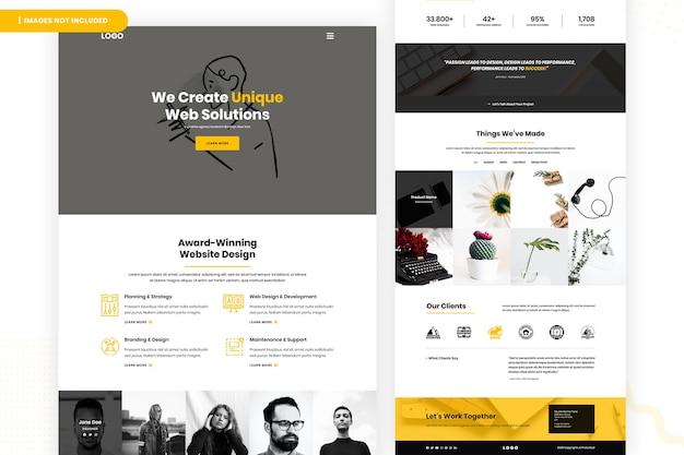 Erstellen sie eine einzigartige webseite für weblösungen