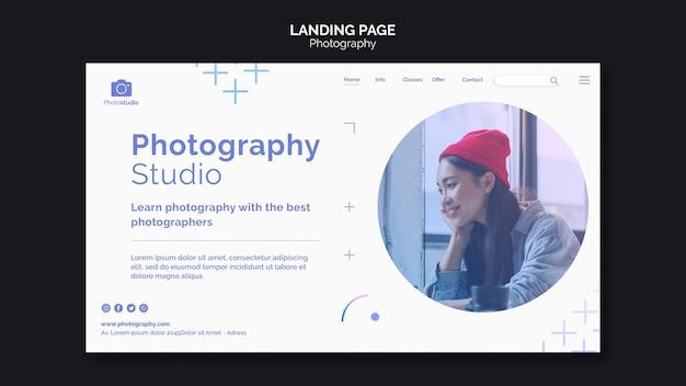 Erstellen sie ihre landingpage-vorlage für das bildfotostudio