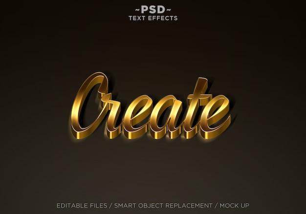 Erstellen sie mit golden effects bearbeitbaren text