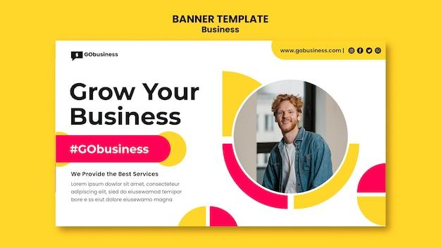 Erweitern sie ihre business-banner-vorlage