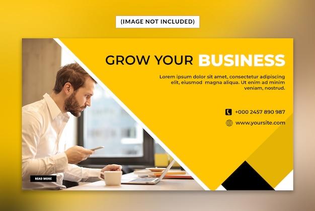 Erweitern sie ihre business-web-banner-vorlage