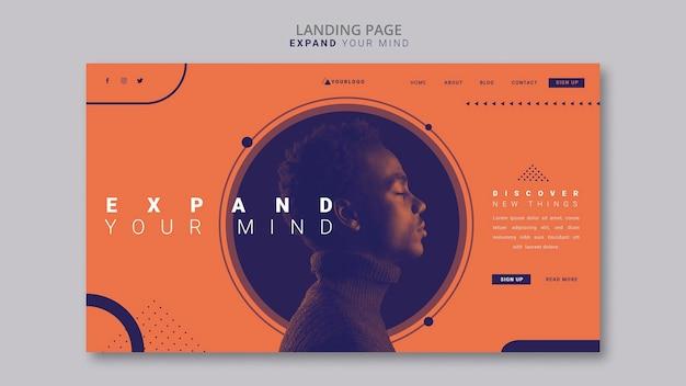 Erweitern sie ihre mind landing page-vorlage