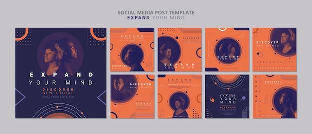 Erweitern sie ihren geist social media post-vorlage