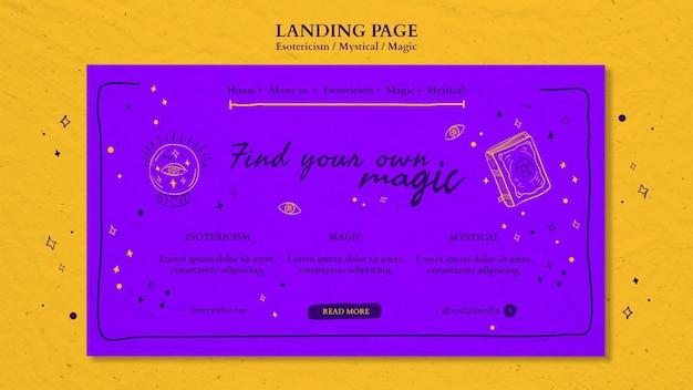 Esoterik-anzeige landingpage-vorlage