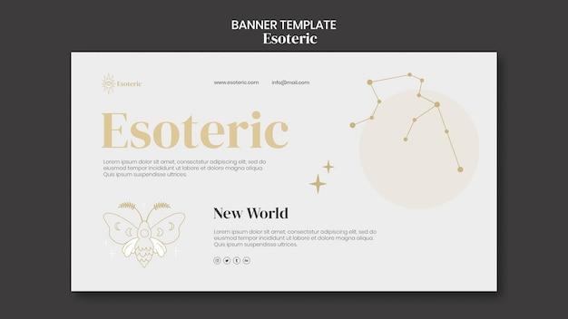 Esoterische banner-vorlage