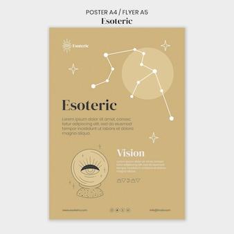 Esoterische plakatvorlage