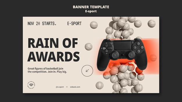 Esport-banner-vorlagendesign