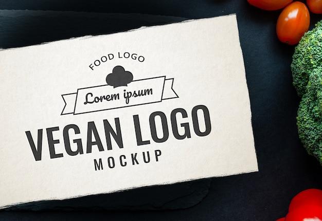 Essen logo mockup-tabelle gewürz