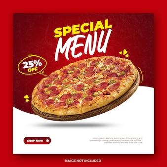 Essen pizza instagram post vorlage