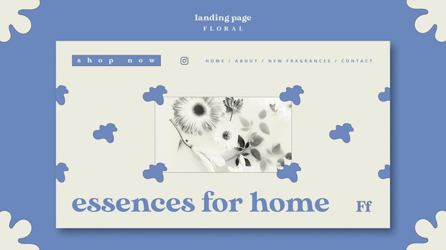 Essences for home concept landing page
