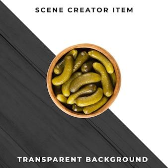 Essiggurken auf transparentem hintergrund