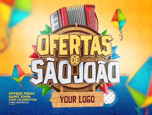 Etikettenangebote von sao joao 3d machen brasilien realistisch