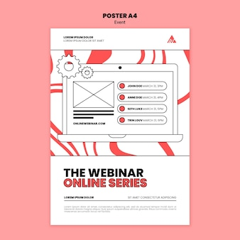 Event online webinar poster vorlage