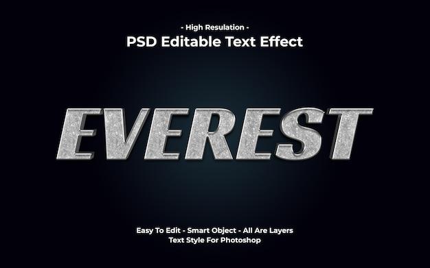 Everest-texteffekt