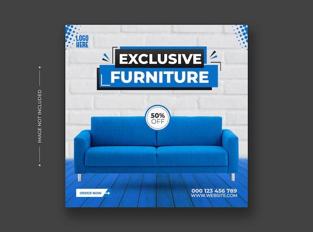 Exklusive social-media- und instagram-post-vorlage für möbel