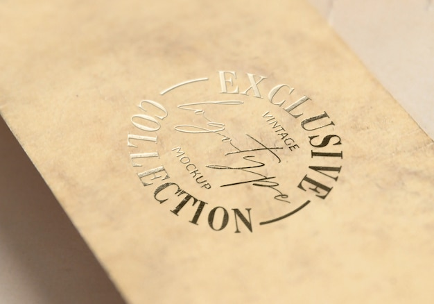 Exklusive vintage logotype mockup kollektion