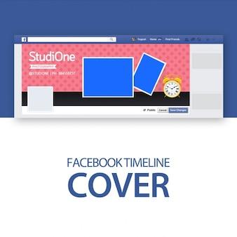 Facebook-abdeckung schablone