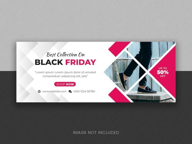 Facebook-cover-banner für den verkauf von modemarkenprodukten