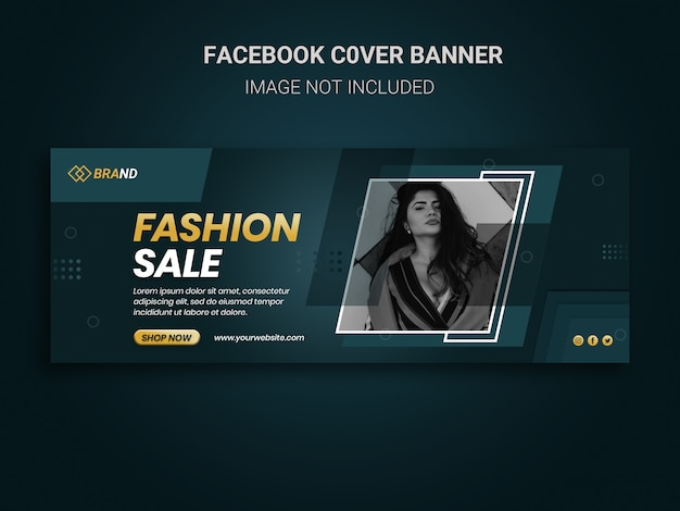 Facebook cover banner social media post für modeverkaufsförderung