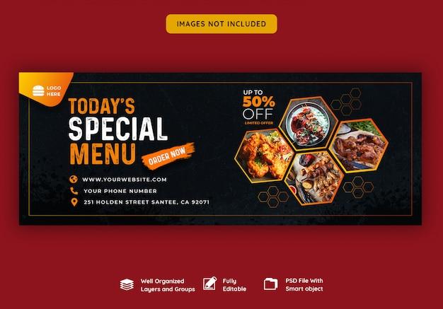 Facebook cover banner vorlage für essen und restaurant