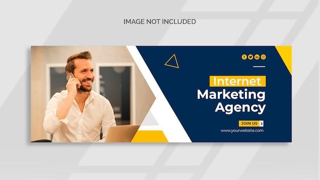 Facebook-cover für digitales marketing und web-banner-vorlage Kostenlosen PSD