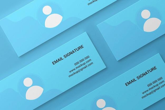 Facebook-cover oder web-banner oder e-mail-signatur-mockup