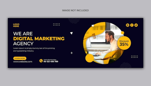 Facebook-cover oder web-banner-vorlage der digitalagentur