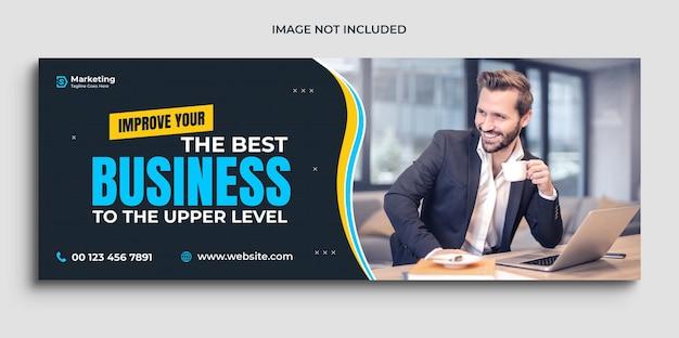 Facebook-cover- und social-media-cover-vorlage für digitale business-marketing-werbung